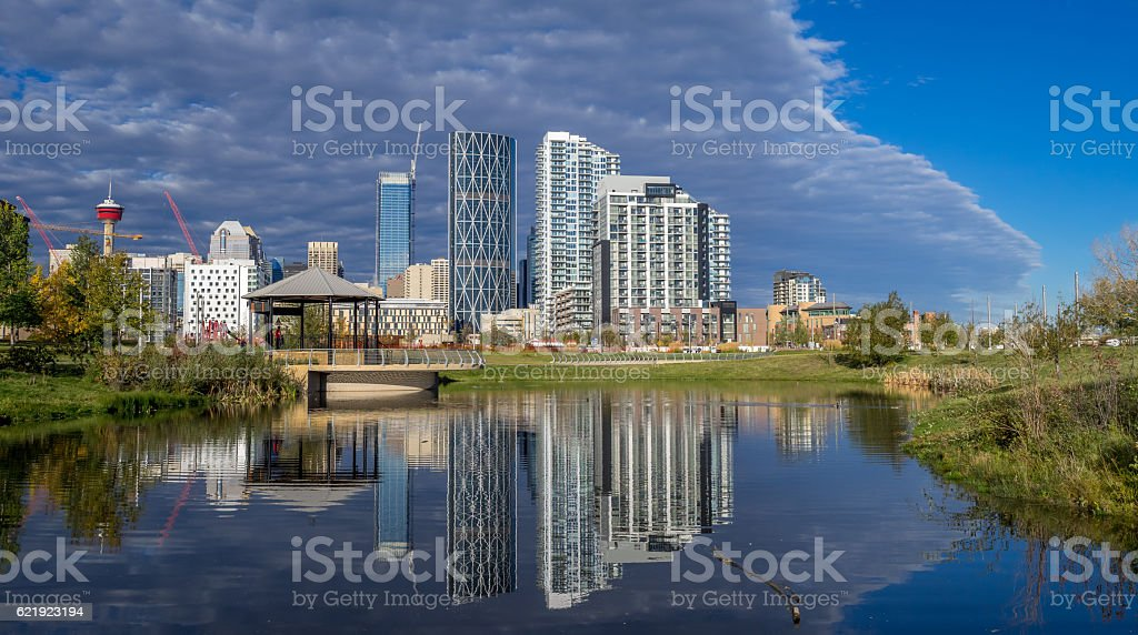 Calgary downtown stock photo