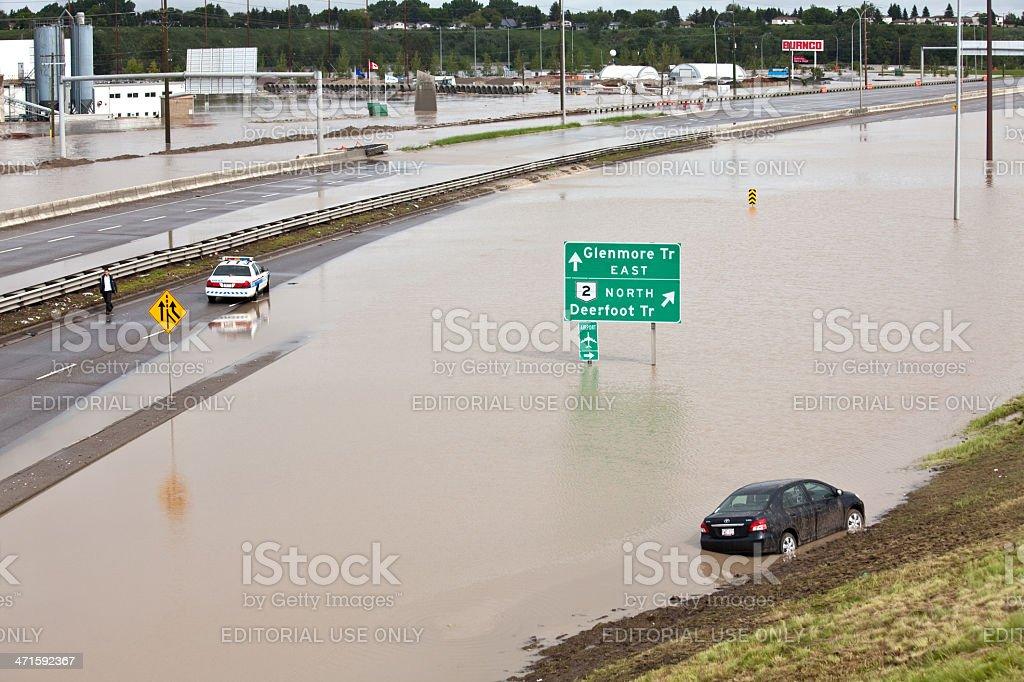 Calgary Flood of 2013 stock photo