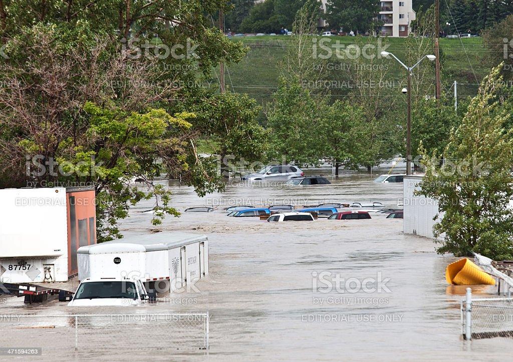 Calgary Flood of 2013 royalty-free stock photo