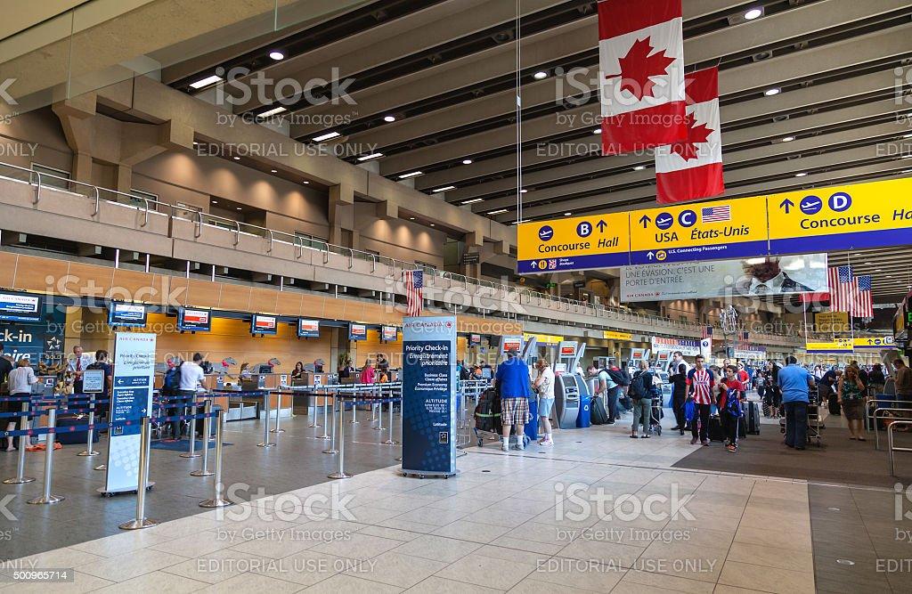 Calgary International Airport stock photo