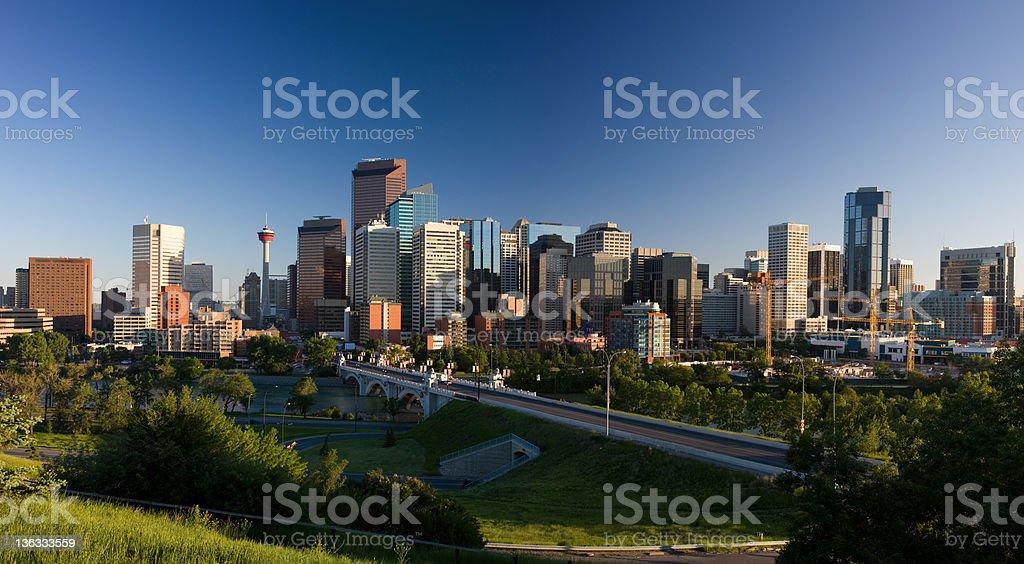 Calgary Panorama (XXL) royalty-free stock photo