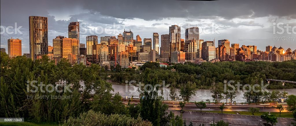 Calgary skyline panorama stock photo