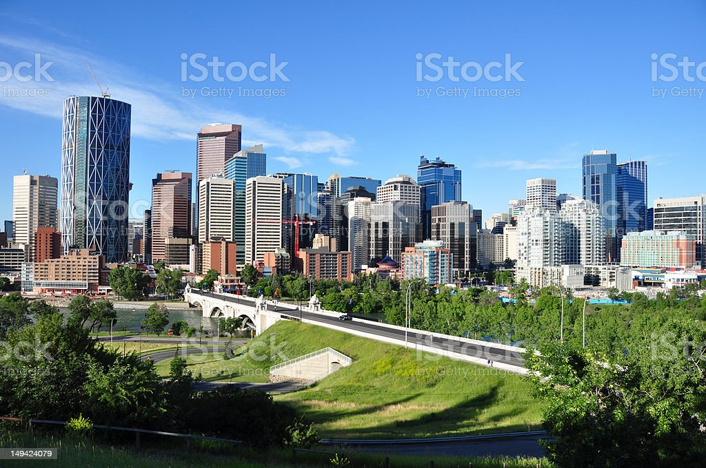 Calgary skyline royalty-free stock photo