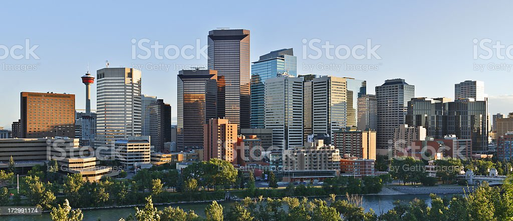 Calgary Skyline stock photo