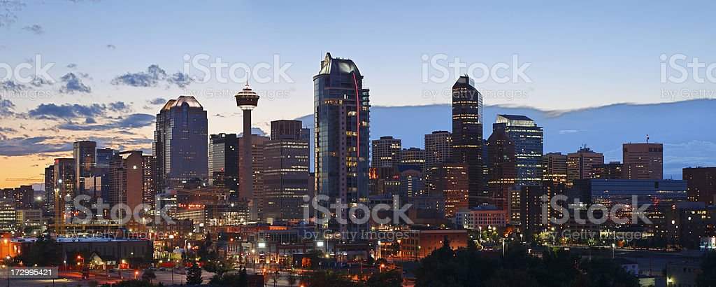 Calgary Skyline royalty-free stock photo