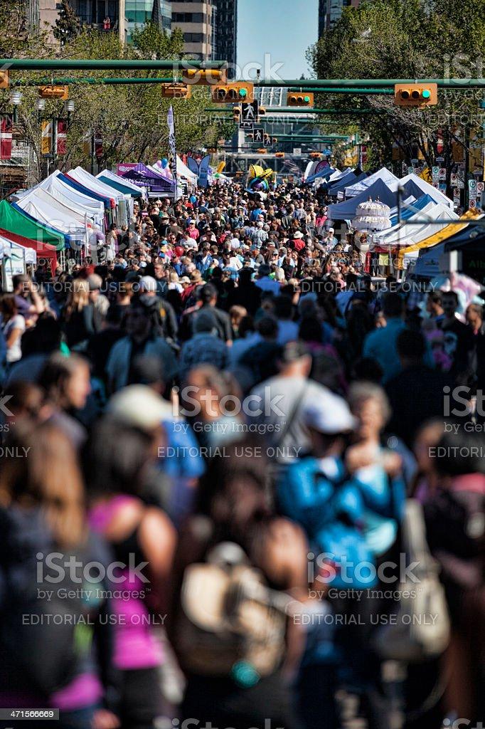 Calgary Street Festival royalty-free stock photo