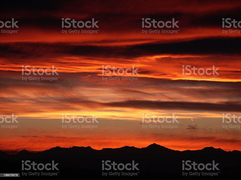 Calgary Sunset royalty-free stock photo
