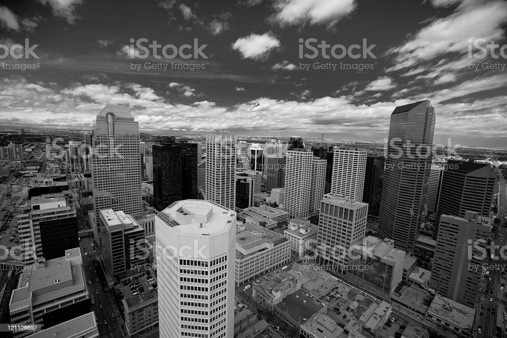 Calgary viewed from above stock photo