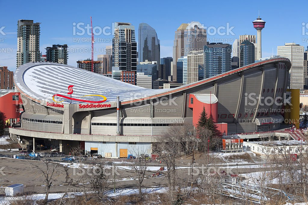 Calgary's Scotiabank Saddledome royalty-free stock photo