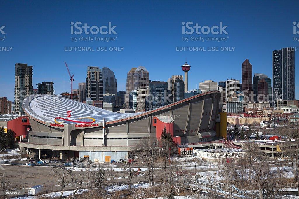 Calgary's Scotiabank Saddledome royalty-free stock photo