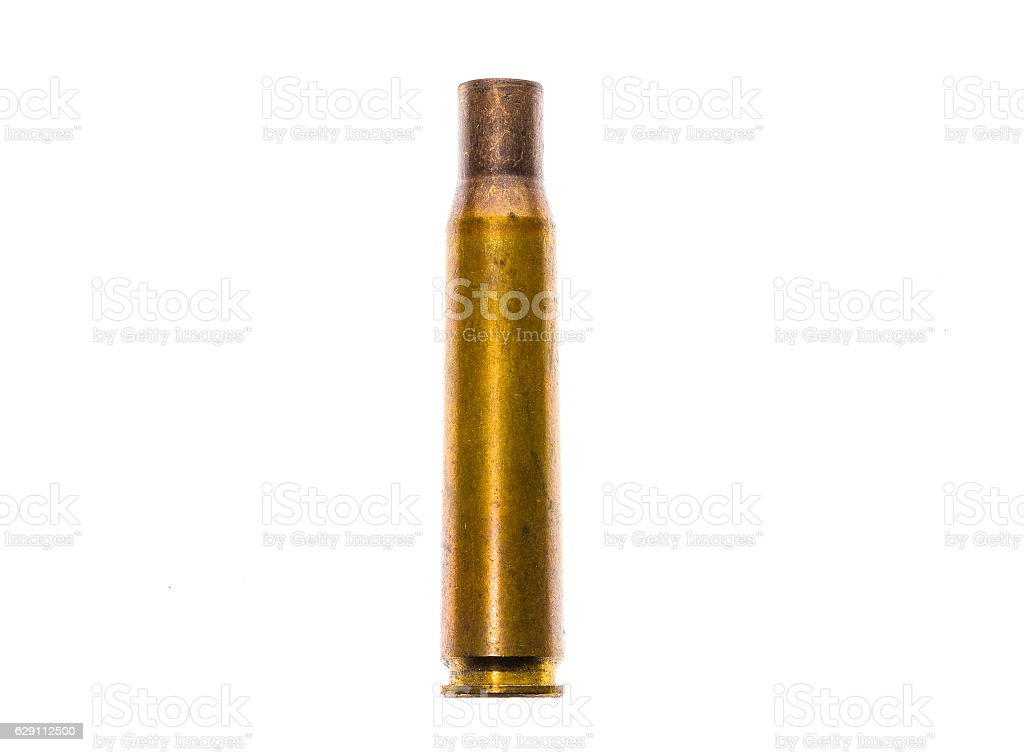 0.50 caliber Bullet case ammo for military sniper Rifle. stock photo