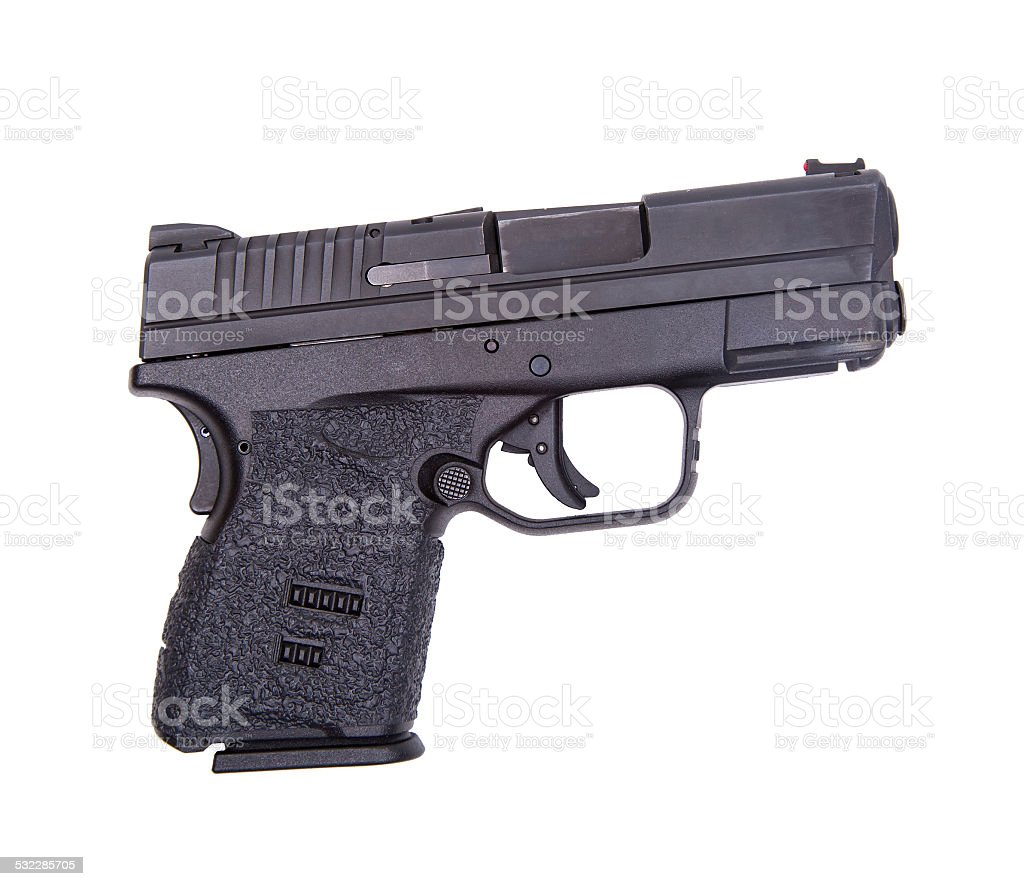 .45 Caliber Handgun stock photo