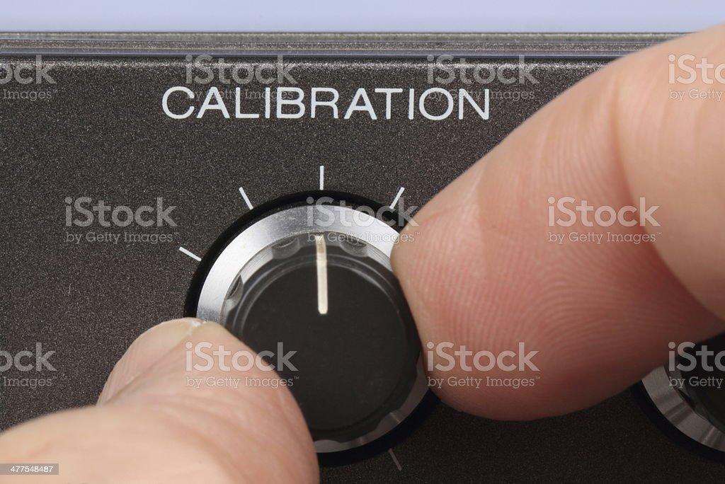 Calibration knob stock photo