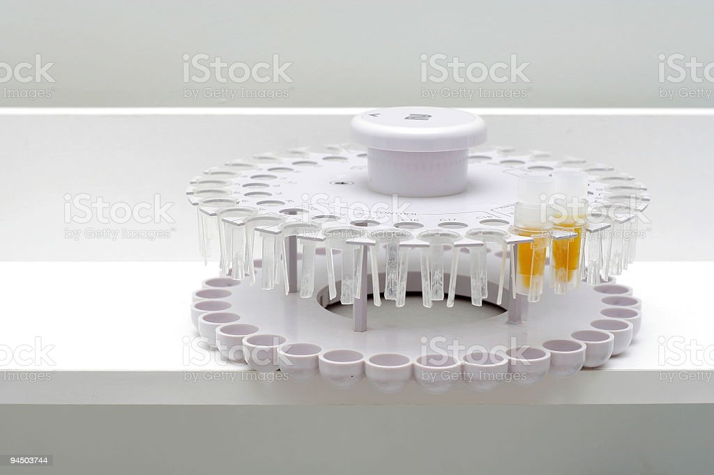 Calibrations carrousel for the biochemical analyzer royalty-free stock photo