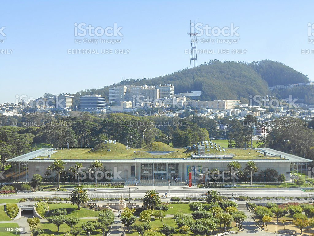 California Academy of Science in San Francisco stock photo