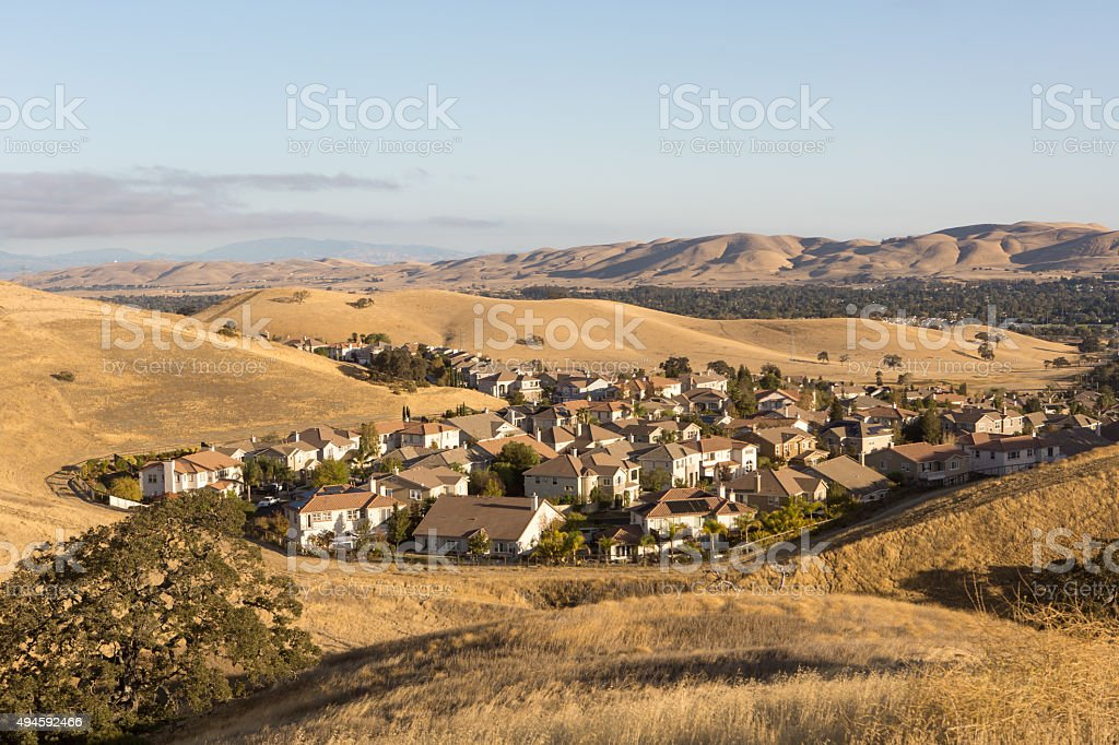 California Afluent Suburbs stock photo