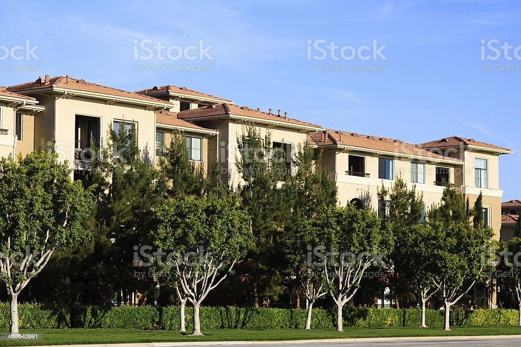 California Apartment Building royalty-free stock photo