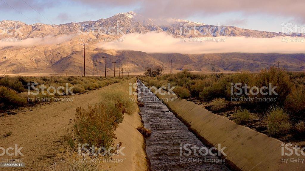 california aqueduct stock photo