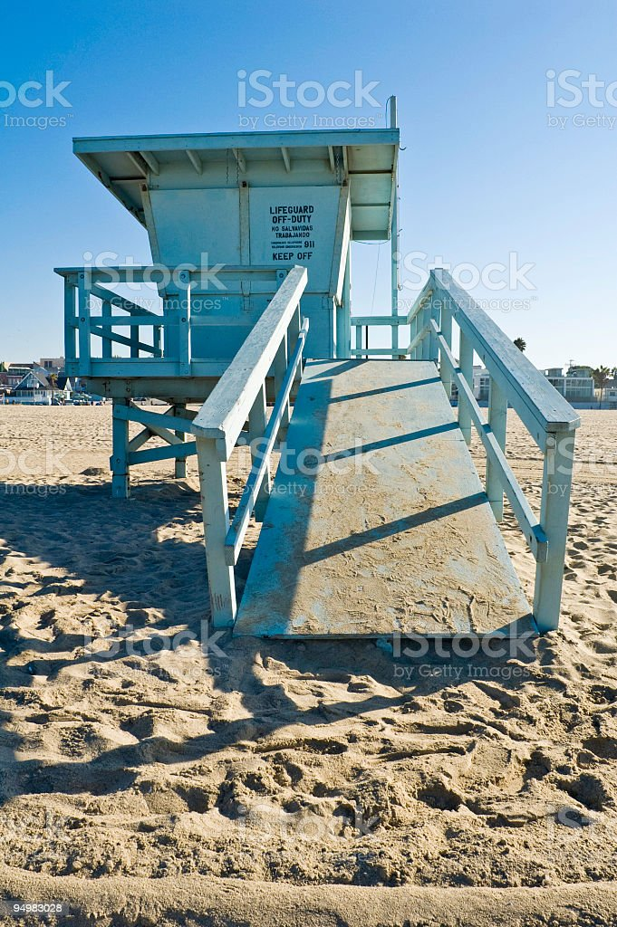 California beach blue stock photo