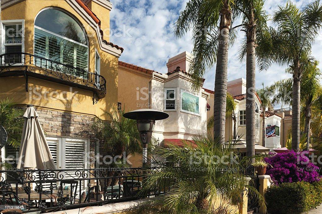 California beach rental homes. stock photo