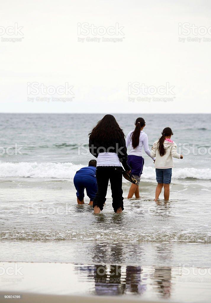 california beach scene - children teens playing royalty-free stock photo