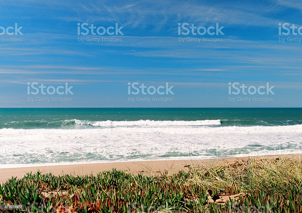 California beach scene royalty-free stock photo