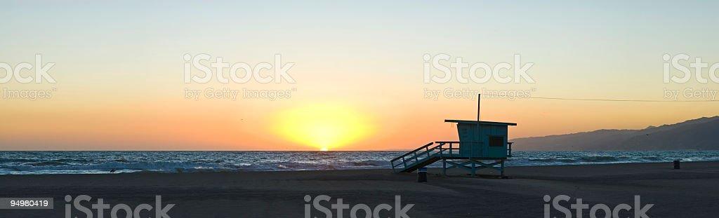 California beach sunset royalty-free stock photo