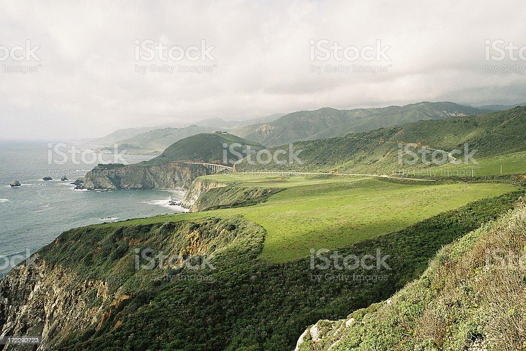 California Big Sur coast royalty-free stock photo