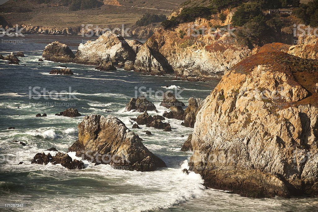 USA, California, Big Sur, Coastline and sea royalty-free stock photo