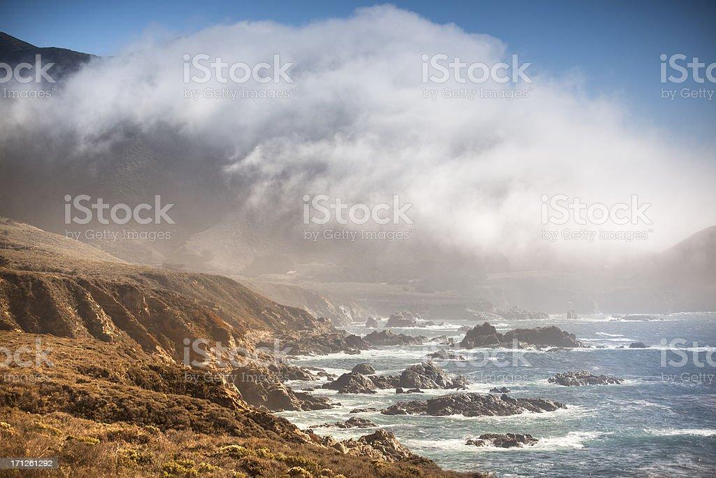 USA, California, Big Sur, Coastline and sea royalty-free stock photo