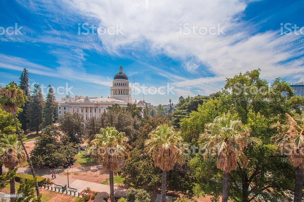 California Capital building in Sacramento stock photo