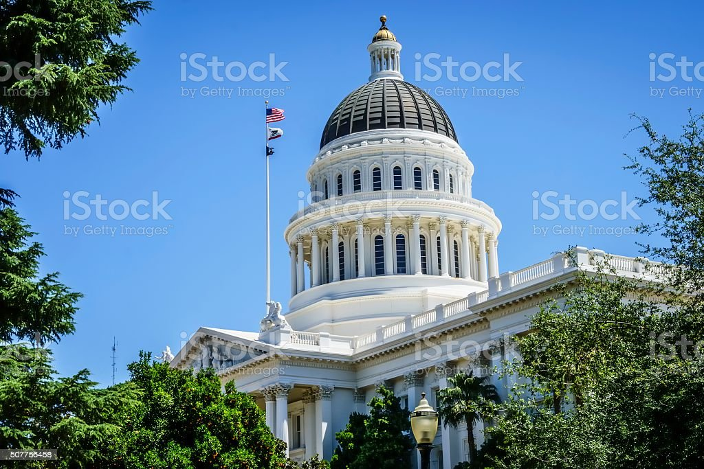 California Capitol Building in Sacramento, California stock photo