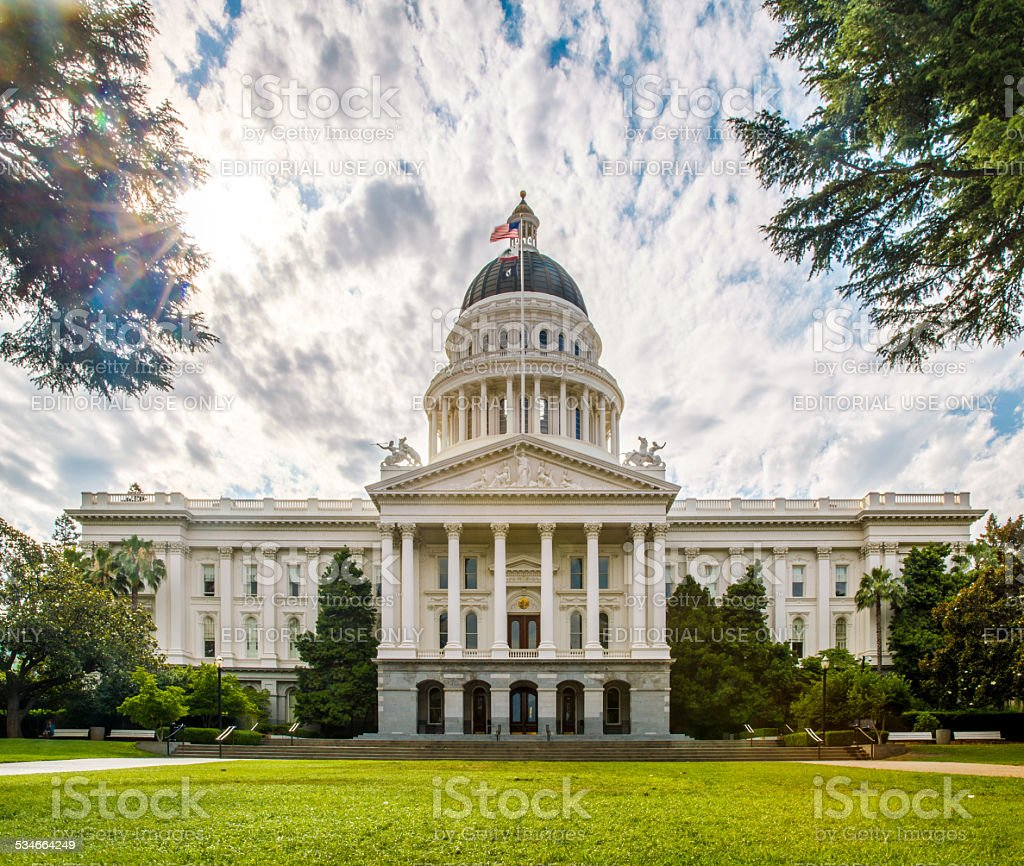California Capitol Building stock photo