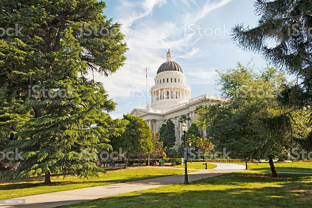 California Capitol on a beautiful day. stock photo
