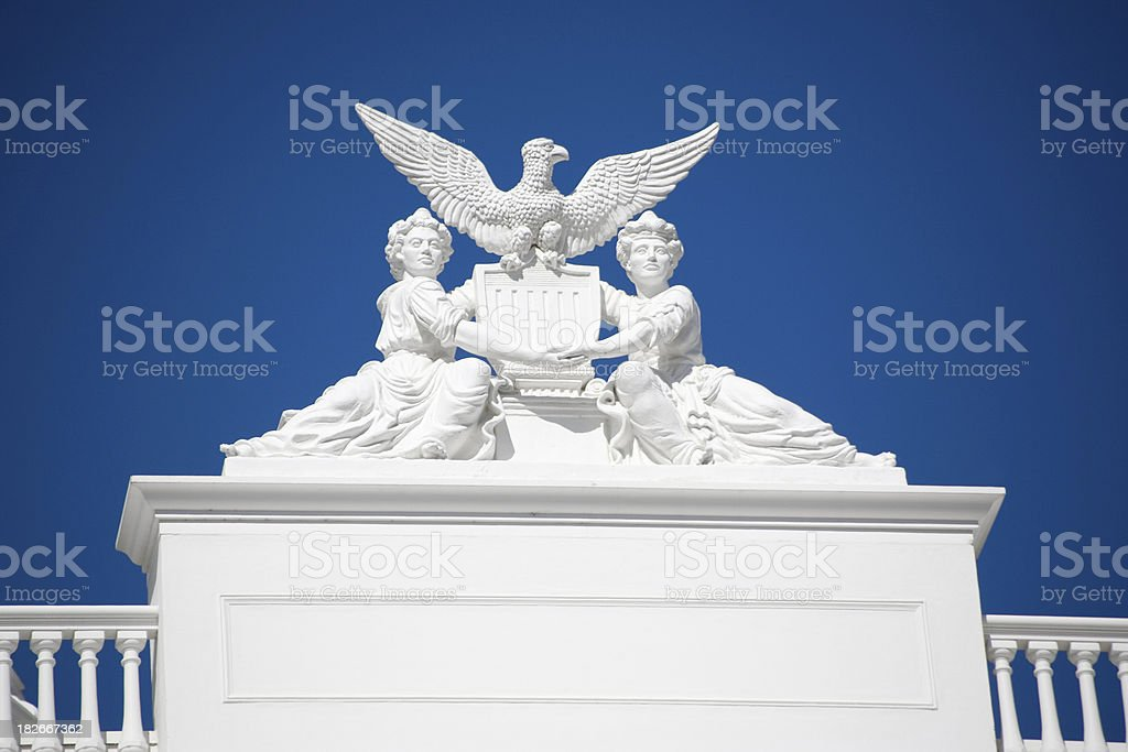 California Capitol One Detail Eagle royalty-free stock photo