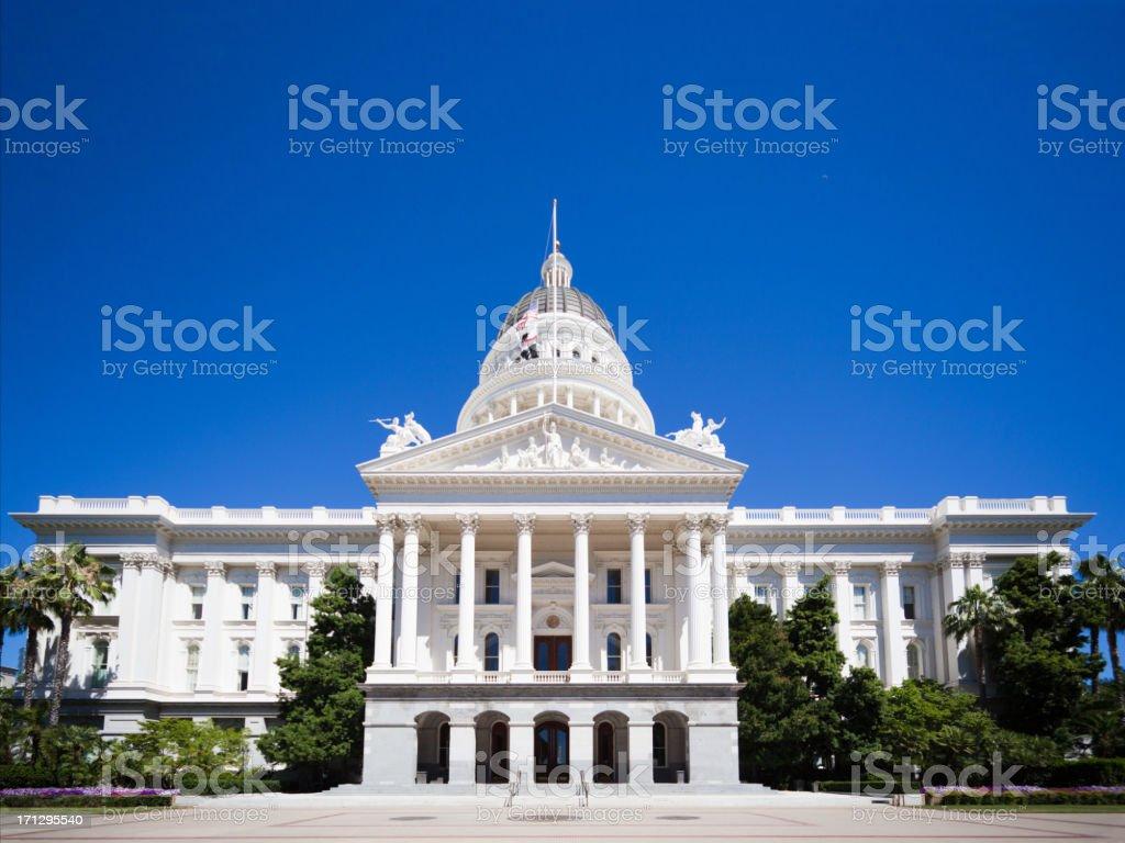 California Capitol Sacramento front view royalty-free stock photo