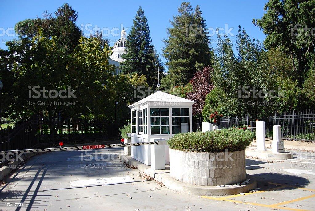 California Capitol Security royalty-free stock photo