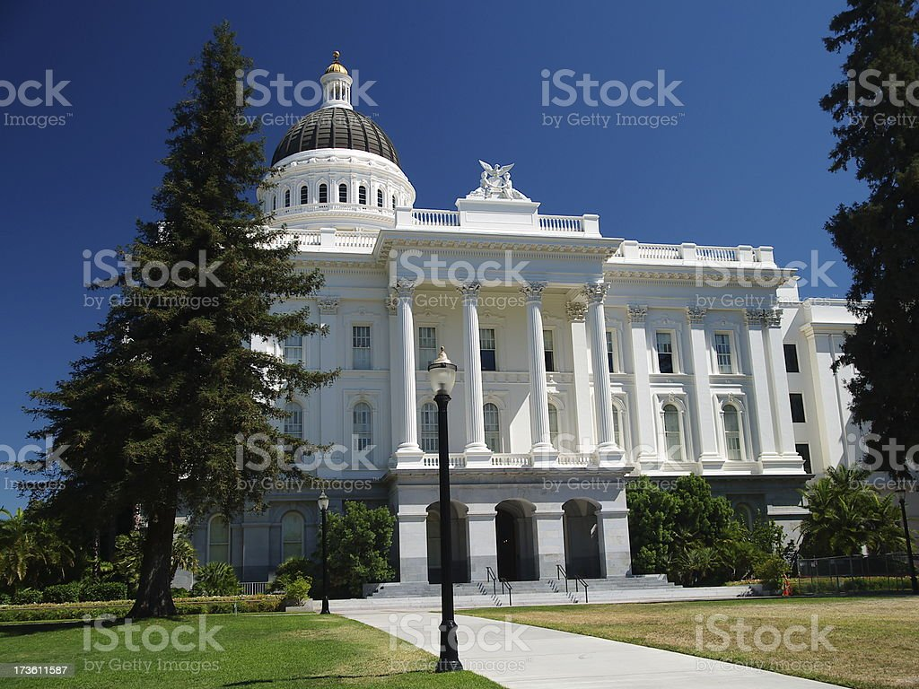 California Capitol south side royalty-free stock photo