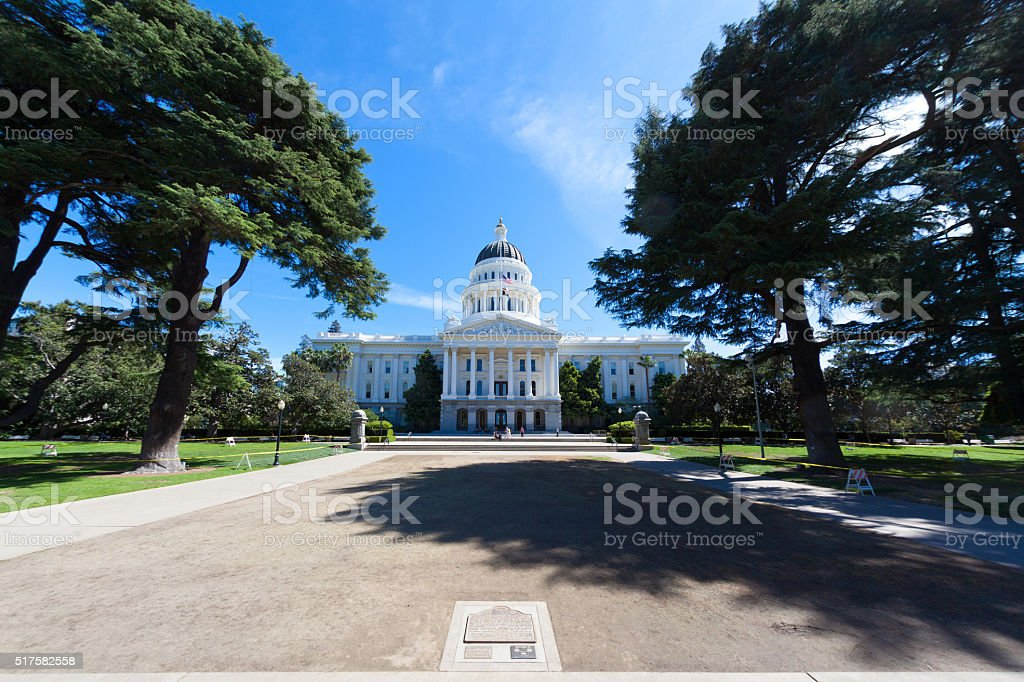California Capitol very Wide Angle stock photo