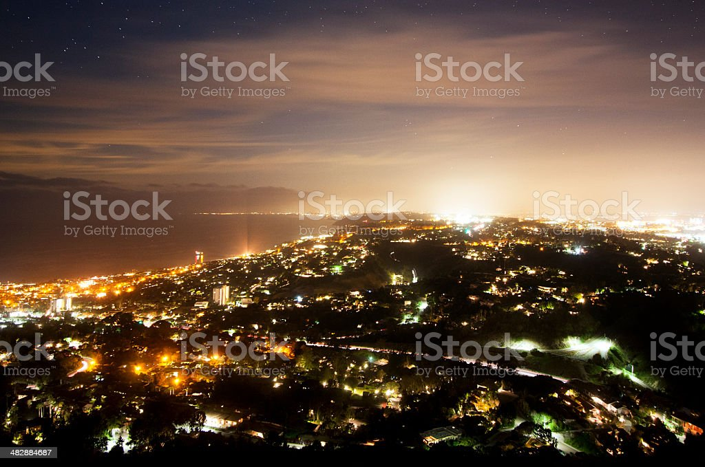 California Cityscape at Night stock photo