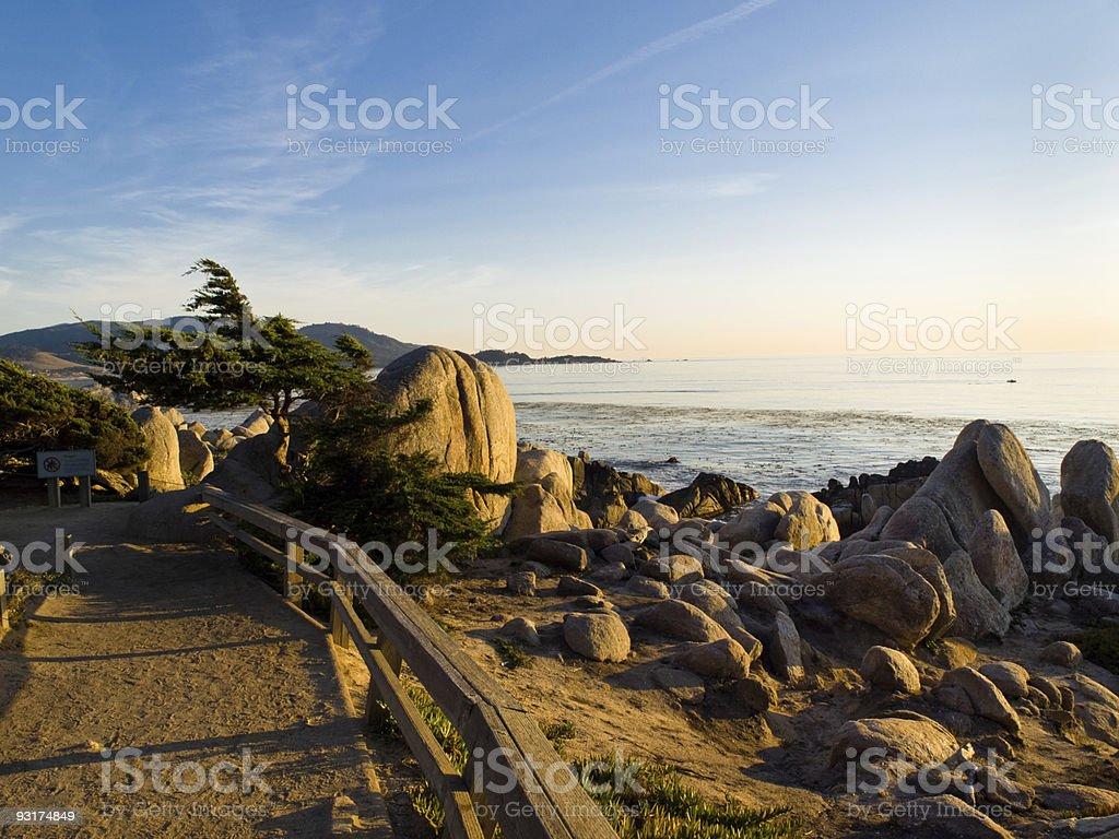 California Coast 17 mile drive near Monterey royalty-free stock photo