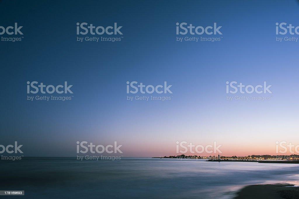California Coast at Night royalty-free stock photo