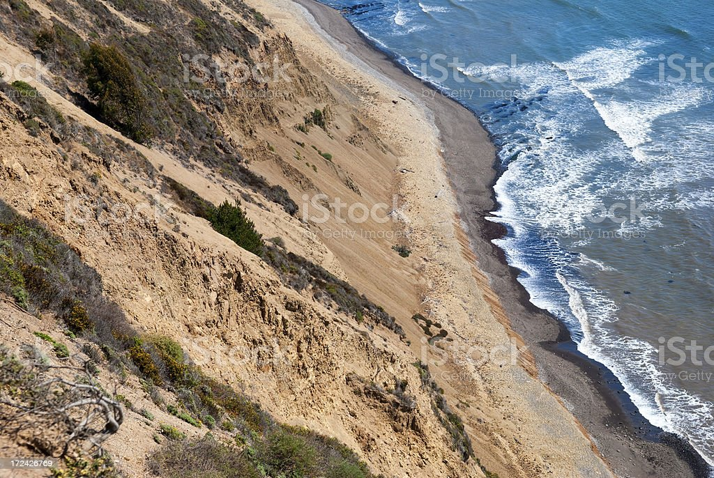 California coast at Point Reyes royalty-free stock photo