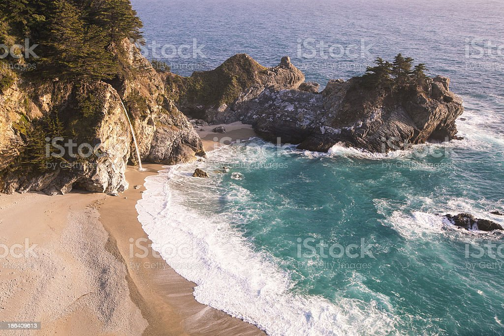 California coast in spring - Mcway falls royalty-free stock photo