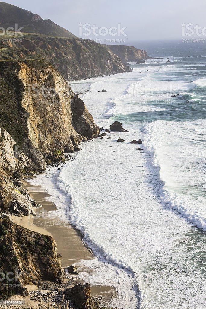 California Coast near Big Sur royalty-free stock photo