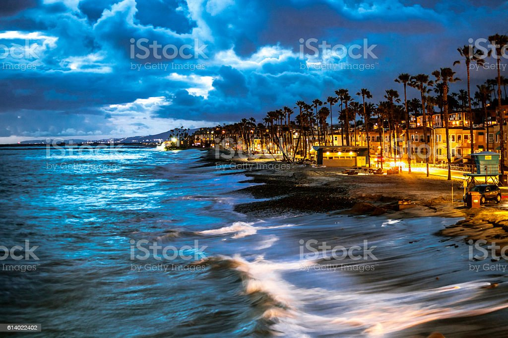 California coast, Oceanside town beach. stock photo