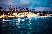 California coast, Oceanside town beach.
