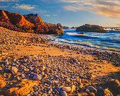 California coast shoreline at Pescadero State Beach, CA(P)