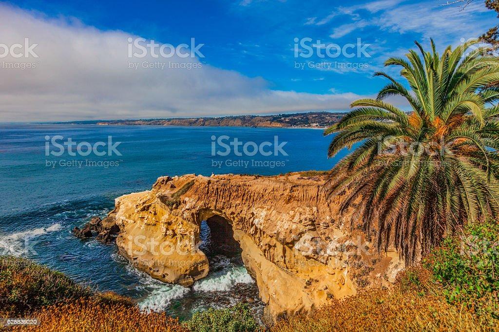 California coast shoreline with cliffs at La Jolla stock photo