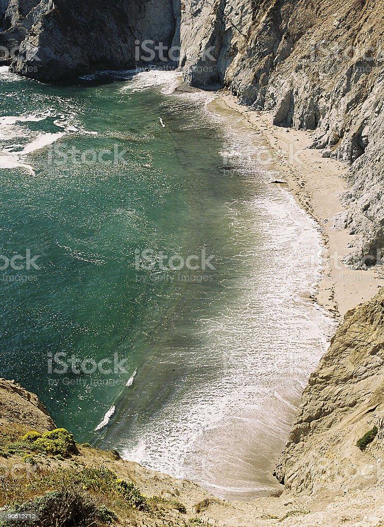 California coastal bay stock photo